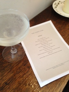 The Gimlet - and the Cocktail Menu