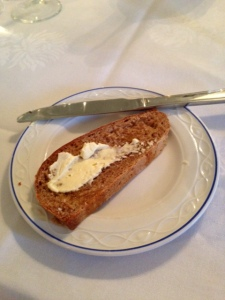 Bread with home churned butter, Tollesbury sea salt