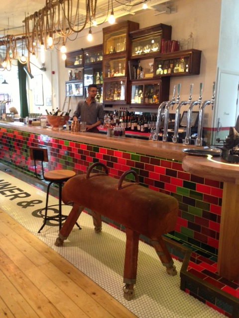 Pommel Horse at the bar