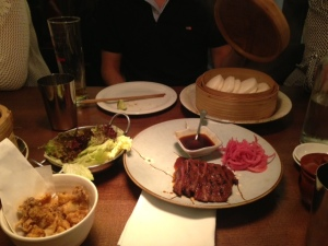 Flat Iron Steak, Hirata Buns