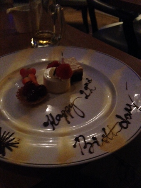 Special pud for little brother's birthday