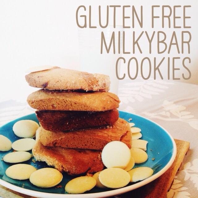 gluten free milkybar cookies