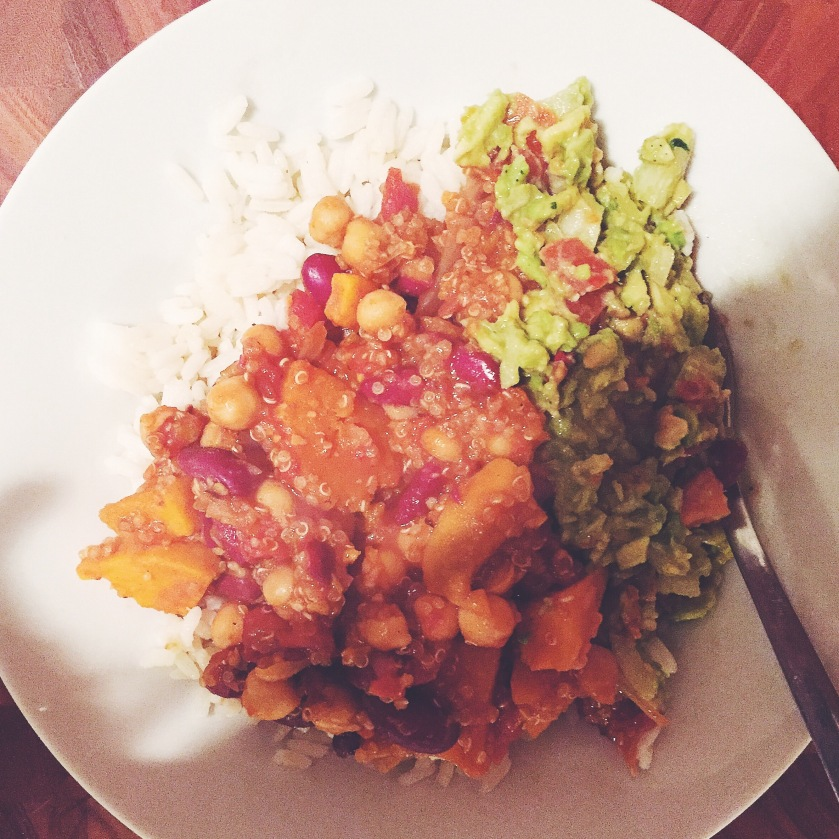 gluten free vegan sweet potato chilli